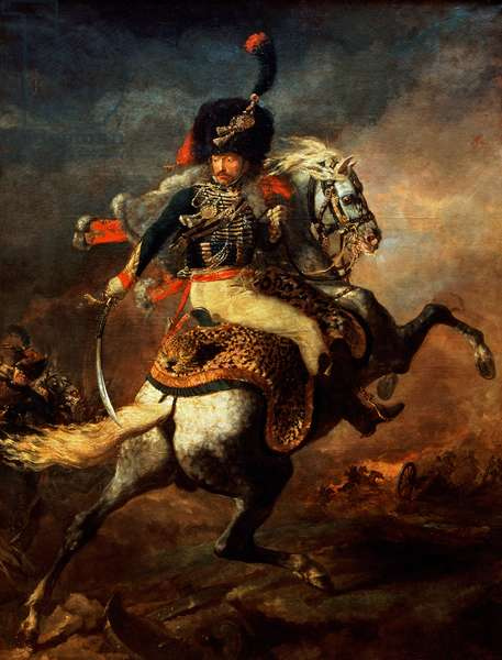 Officer of the Hussars, 1814 (oil on canvas)