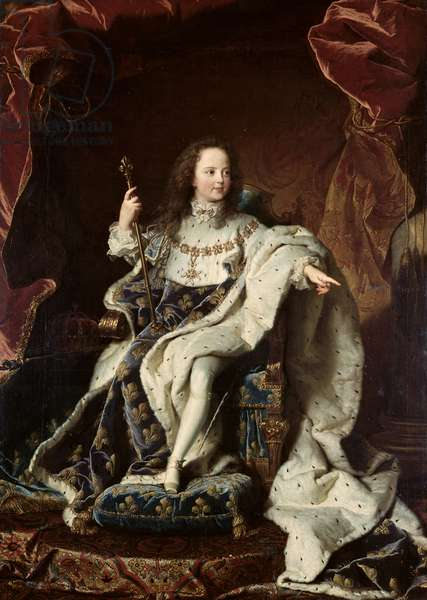 Portrait of Louis XV (1710-74) in Coronation Robes, 1715 (oil on canvas)