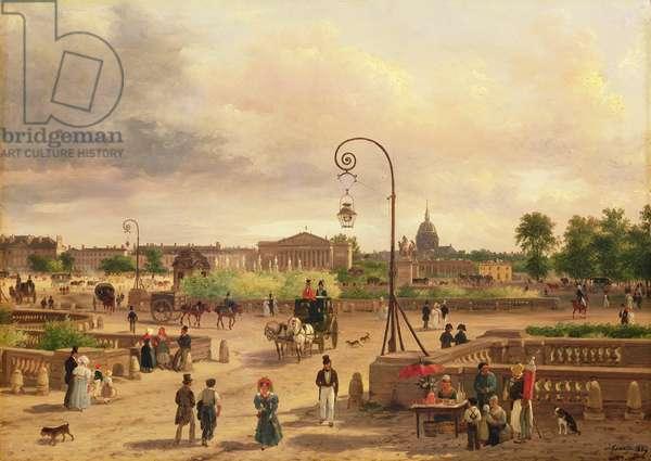 La Place de la Concorde in 1829 (oil on canvas)