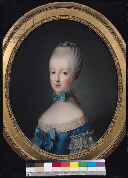 Portrait of Marie-Antoinette de Habsbourg-Lorraine (1750-93) after the painting by Joseph Ducreux (1735-1802) 1770 (oil on canvas)