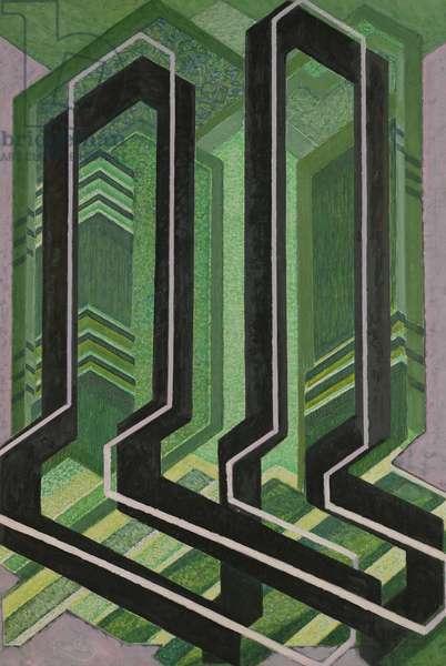 Plans Diagonaux, 1925 (oil on canvas)