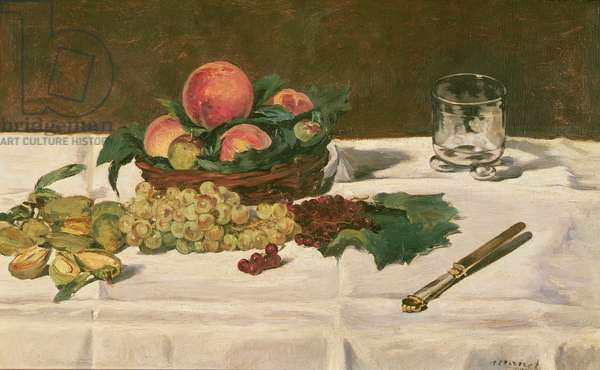 Still Life: Fruit on a Table, 1864 (oil on canvas)