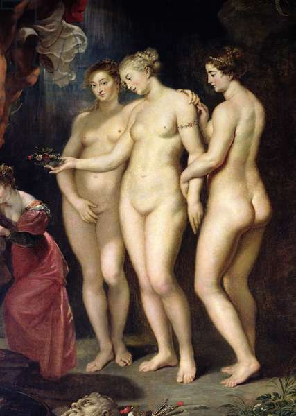 The Medici Cycle: Education of Marie de Medici, detail of the Three Graces, 1621-25 (oil on canvas)