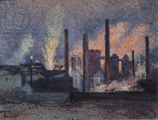 Study for Factories near Charleroi, 1897 (oil on canvas)