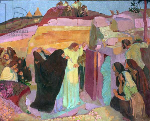 The Raising of Lazarus, 1919 (oil on canvas)