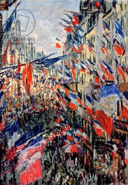 The Rue Saint-Denis, Celebration of June 30, 1878 (oil on canvas)
