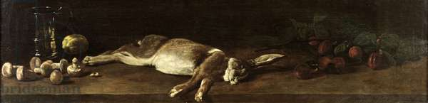 Still Life with a Hare, 1863 (oil on canvas)