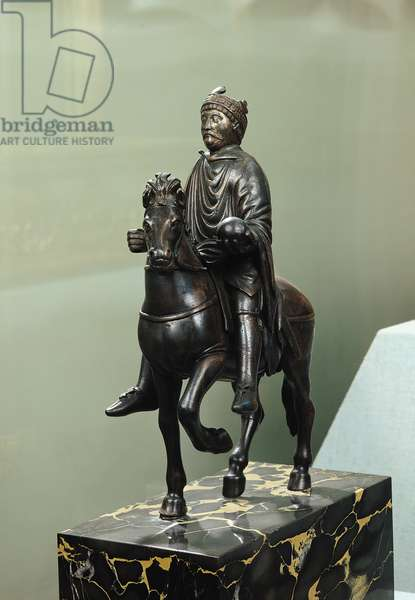 Equestrian statue of Charlemagne (747-814) (bronze) (see also 28028)