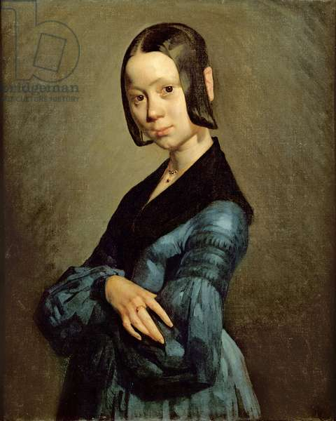 Pauline Ono (1821-44) in Blue, 1841-42 (oil on canvas)