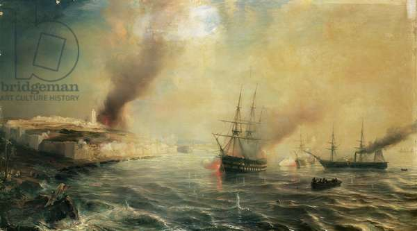 Bombardment of Sale, 26th November 1851, 1855 (oil on canvas)