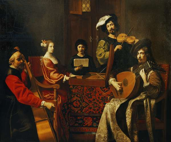 The Concert (oil on canvas)