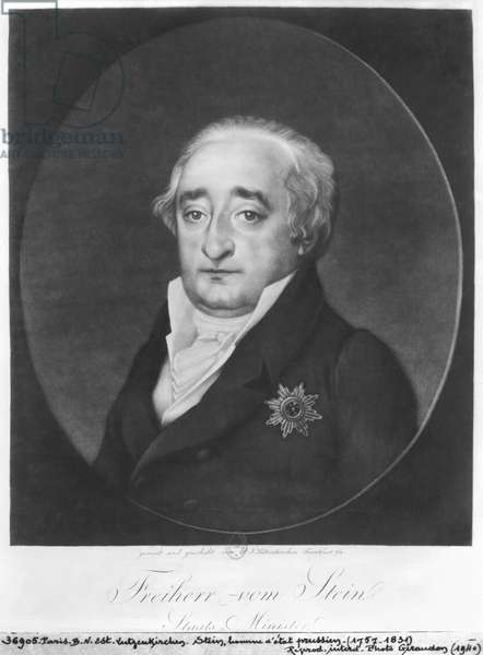 Baron Karl von Stein (litho) (b/w photo)