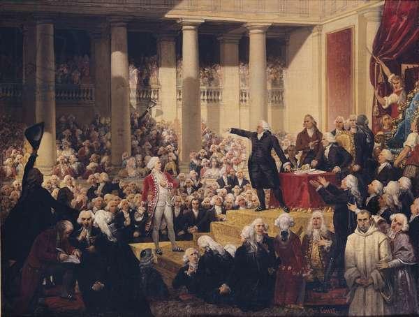 Mirabeau and Monsieur de Dreux-Breze at the Assemblee des Deputes, 23rd June 1789 (oil on canvas)