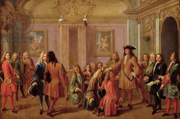 First Promotion of the Order of Saint Louis, 10th May 1693 (oil on canvas)