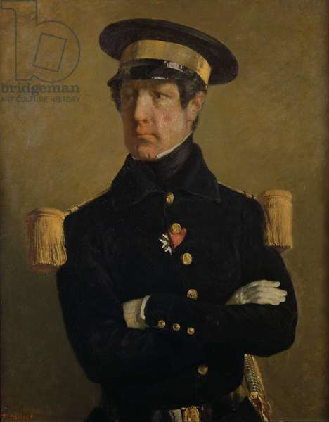 Pierre Claude Aimable Gachot, Naval Lieutenant, c. 1845 (oil on canvas)