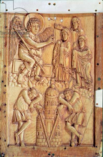 Plaque depicting the Holy Women at the Tomb (ivory)