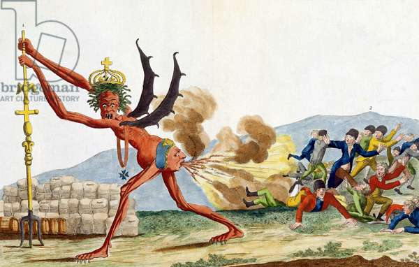 Caricature of the English Government, 1793 (coloured etching)