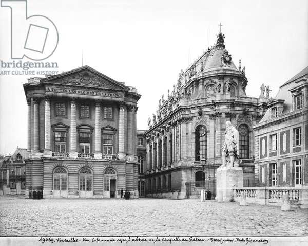 The Royal Chapel, Chateau de Versailles, early 20th century (b/w photo)