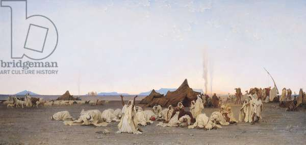 Evening Prayer in the Sahara, 1863 (oil on canvas)