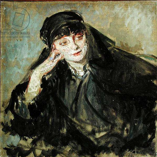 Study for a portrait of Countess Anna de Noailles (1876-1933) 1912 (oil on canvas)