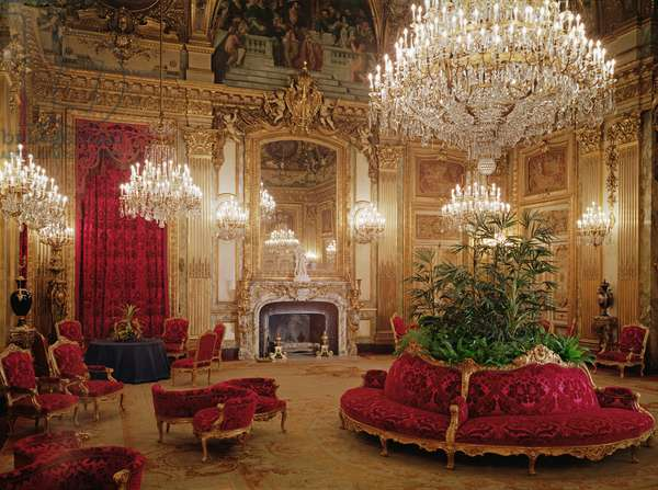 The Great Drawing Room of the Napoleon III Apartments, c.1861 (photo)
