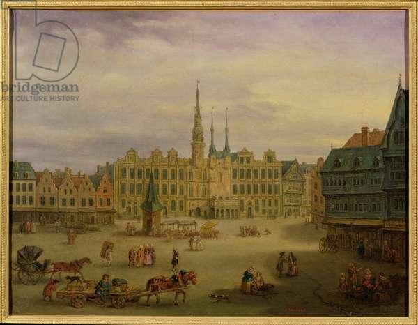 Place de L'Hotel de Ville, Cambrai, c.1780 (oil on canvas)