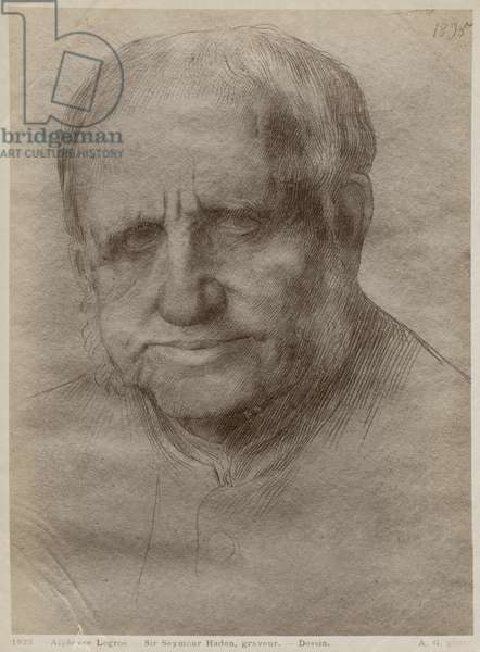 Sir Francis Seymour Haden, etcher, 1895 (goldpoint on paper) (see also 414599)