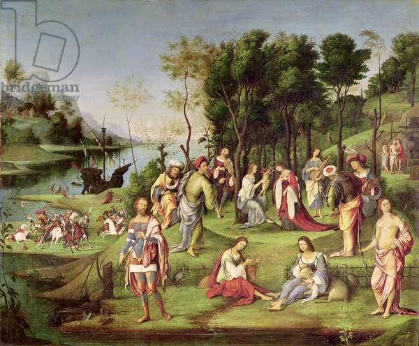 Allegory of the Court of Isabella d'Este (1474-1539) 1504-06 (tempera on panel)