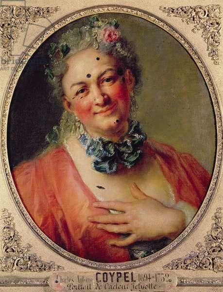 Portrait of the Singer Pierre de Jelyotte (1713-97) in Female Costume, c.1745 (oil on canvas)