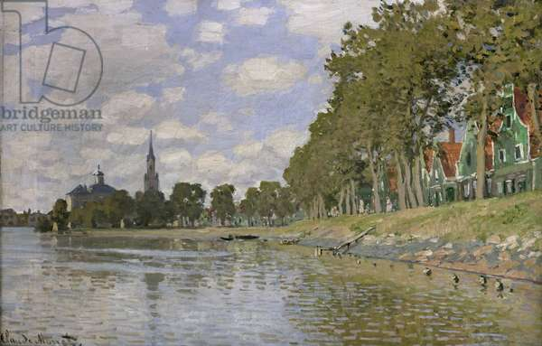 Zaandam (Holland) 1871 (oil on canvas)