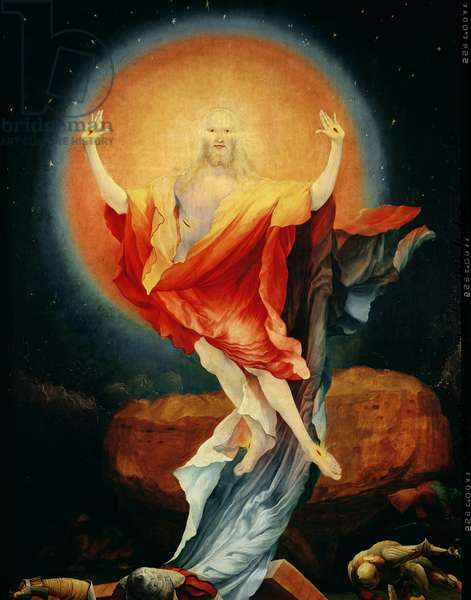 The Resurrection of Christ, from the right wing of the Isenheim Altarpiece, c.1512-16 (oil on panel) (detail of 17677)