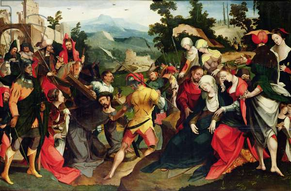 Carrying of the Cross, c.1520 (oil on panel)