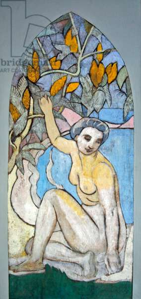 Bather with mimosa, c.1907 (oil on canvas)