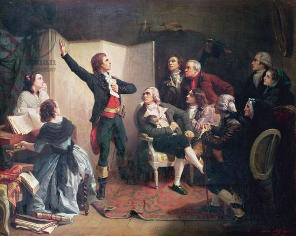 Rouget de Lisle (1760-1836) singing the Marseillaise at the home of Dietrich, Mayor of Strasbourg, 26th April 1792 (oil on canvas)