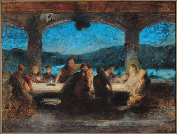 The Last Supper (oil on canvas)