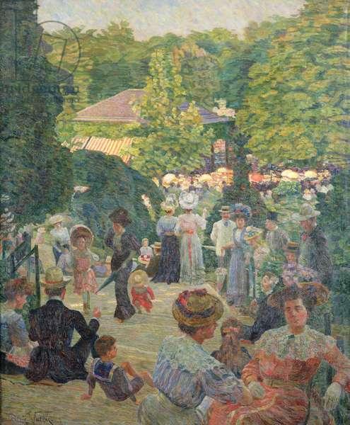 Le Parc de Monsouris, View Towards the Bandstand (oil on canvas)