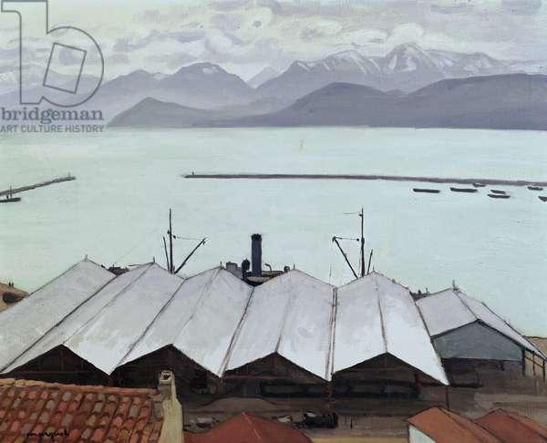 Bougie, Port of Algeria (oil on canvas)
