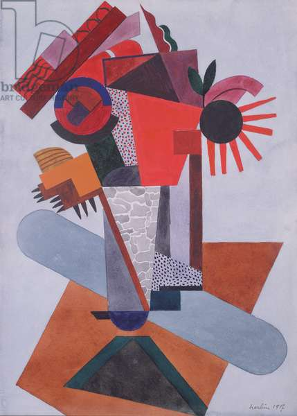 Composition, 1917 (w/c on paper)