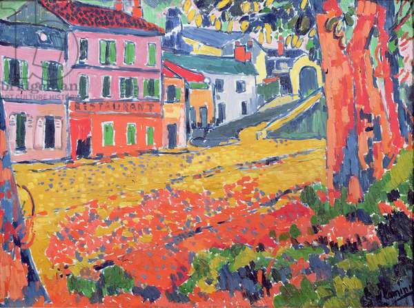 Restaurant de la Machine at Bougival, c.1905 (oil on canvas)