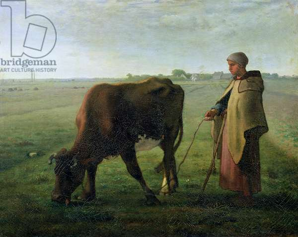 Woman Grazing her Cow, 1858 (oil on canvas)