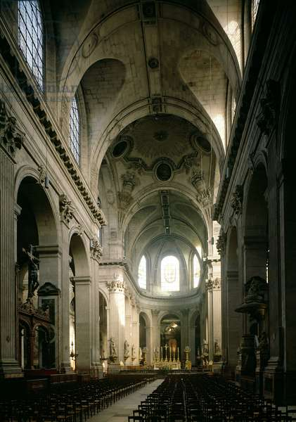 View of the nave towards the choir, built between 1646-1780 (photo)