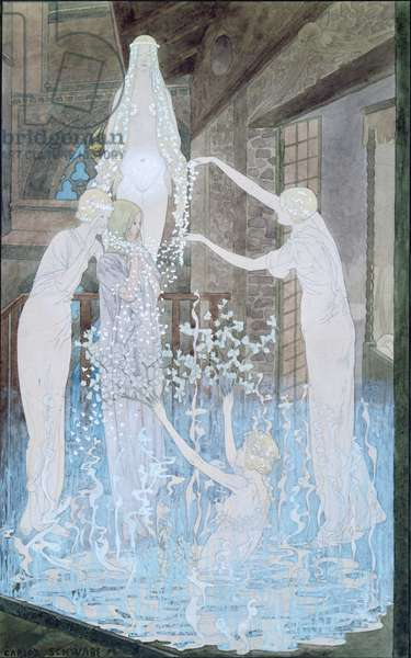 Illustration from 'Le Reve' by Emile Zola (1840-1902) c.1888 (w/c on paper)