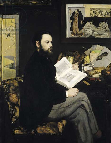 Portrait of Emile Zola (1840-1902) 1868 (oil on canvas)