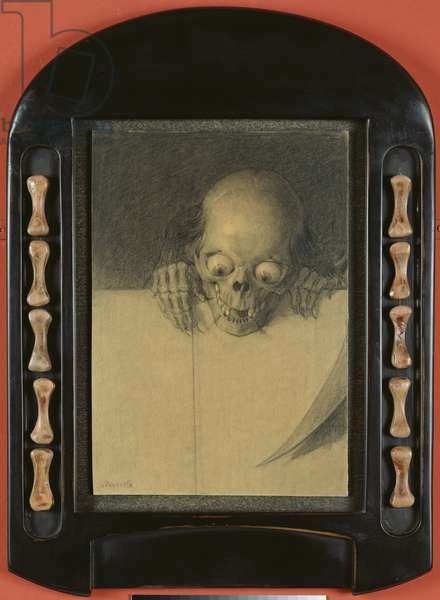 Skull with Bulging Eyeballs, c.1904 (charcoal & pencil on paper)