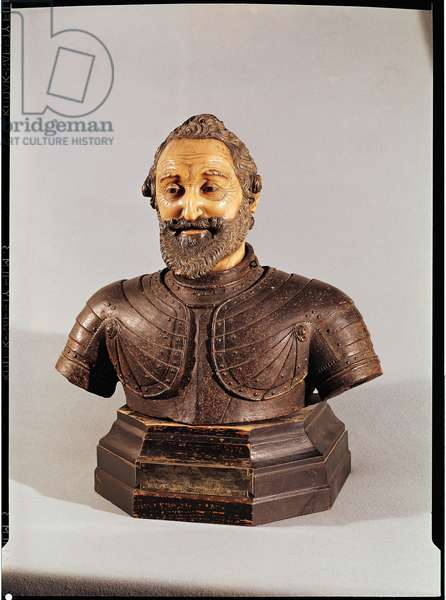 Bust of Henri IV (1553-1610) (wax & stone)