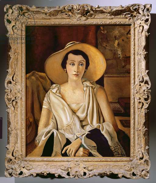 Portrait of Madame Paul Guillaume with a large hat, c.1928-29 (oil on canvas) (see also 287565)