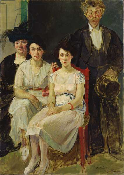 The Capelle Family, 1919 (oil on canvas)
