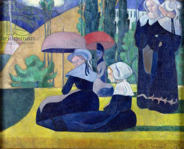 Breton Women in the Shade, 1892 (oil on canvas)