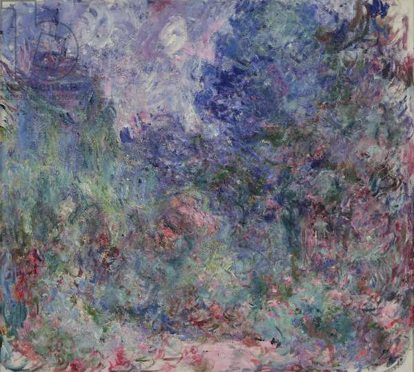 The House at Giverny Viewed from the Rose Garden, 1922-24 (oil on canvas)