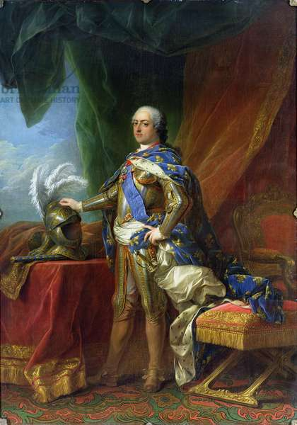 Louis XV (1715-74) King of France & Navarre, 1750 (oil on canvas)